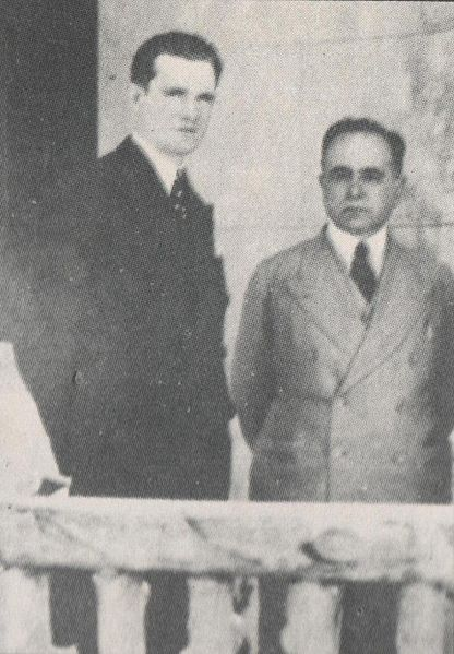 Ernesto Geisel with Getúlio Vargas in 1940. Like many military men of his age (including the three men who served as military presidents prior to Geisel), Geisel had supported the 1930 Revolution that brought Vargas to power.