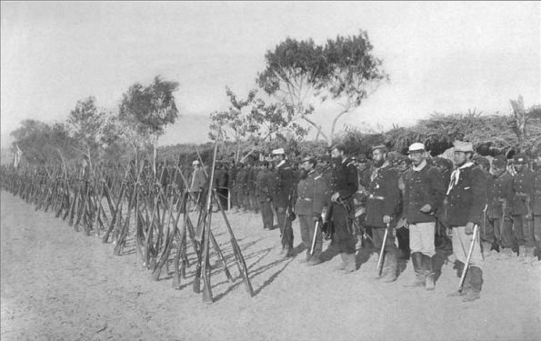 Chilean Troops outside of Lima in 1881.
