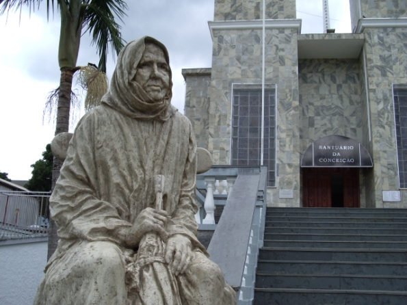 "A statue of Nhá Chica, the first Afro-Brazilian woman to be granted the status of ""Blessed"" by the Vatican."